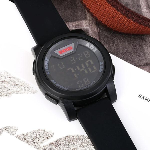 часы SKMEI 1218 Black (чёрные) - 5