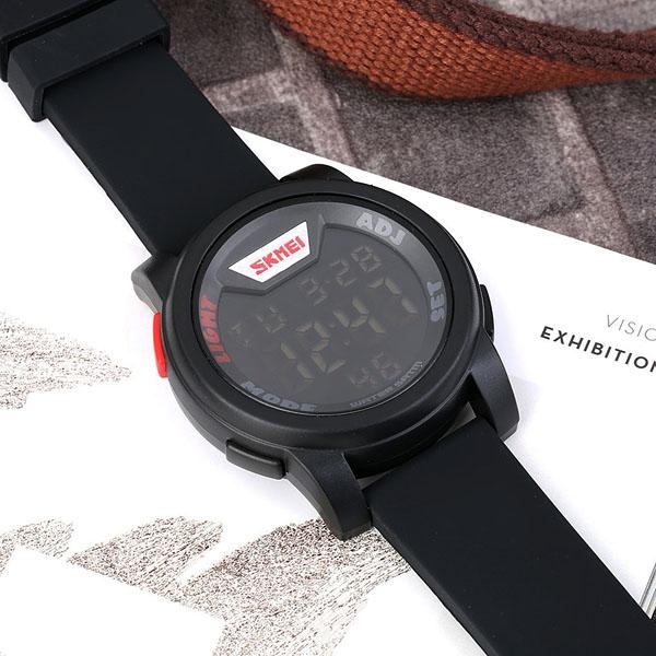 часы SKMEI 1218 Black Red (чёрные с красным) - 6