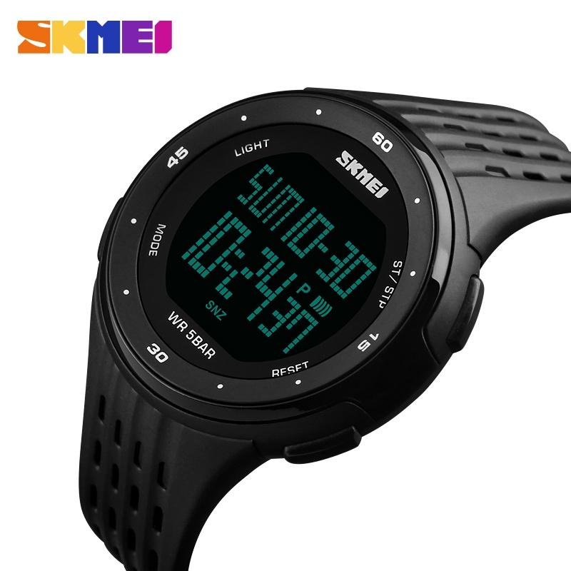часы SKMEI 1219 BLACK чёрные - 3