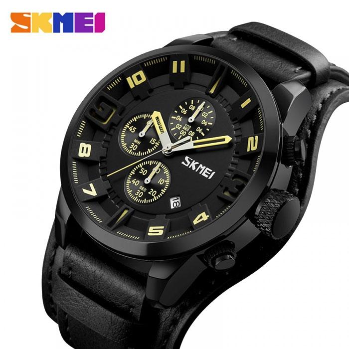 часы SKMEI 9165 yellov / black (жёлтый / чёрный) - 1