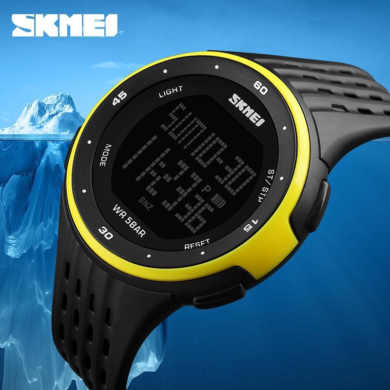 часы SKMEI 1219 YELLOW чёрные с жёлтым - 3