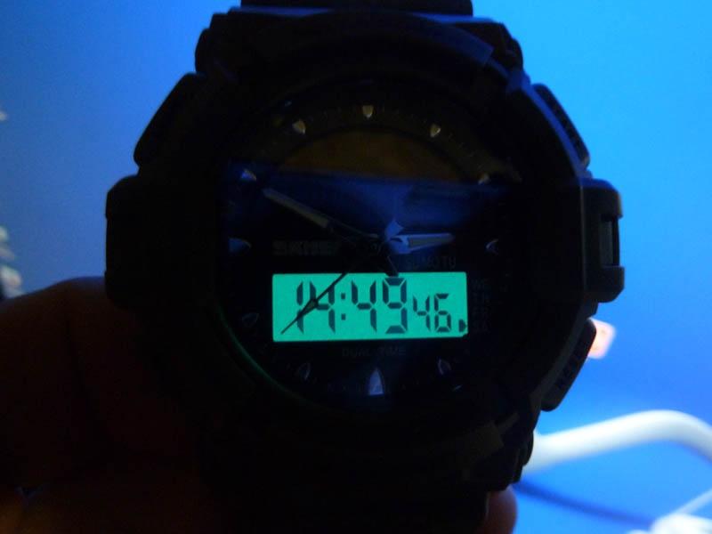 часы SKMEI solar 1050 чёрные с синим - 6