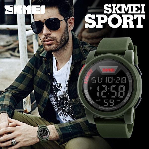 часы SKMEI 1218 Army Green (хаки) - 5