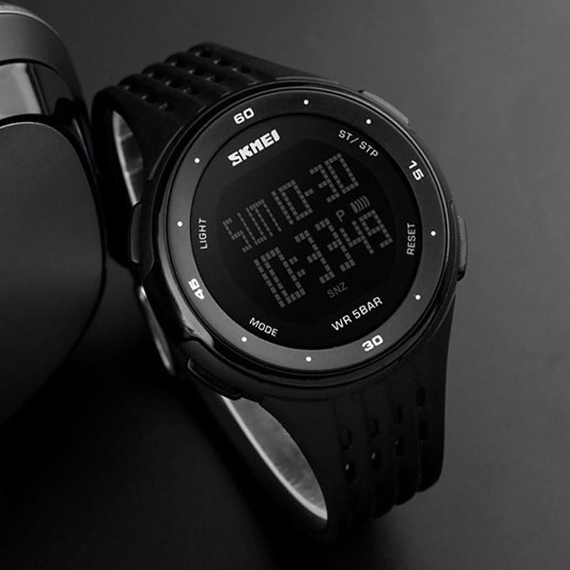 часы SKMEI 1219 BLACK чёрные - 4