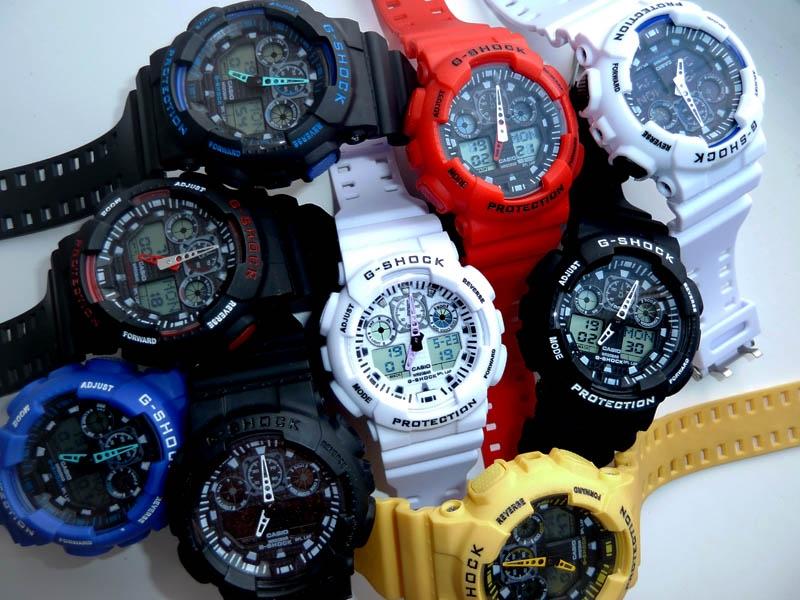 часы 100 чёрные с белым циферблатом - 2