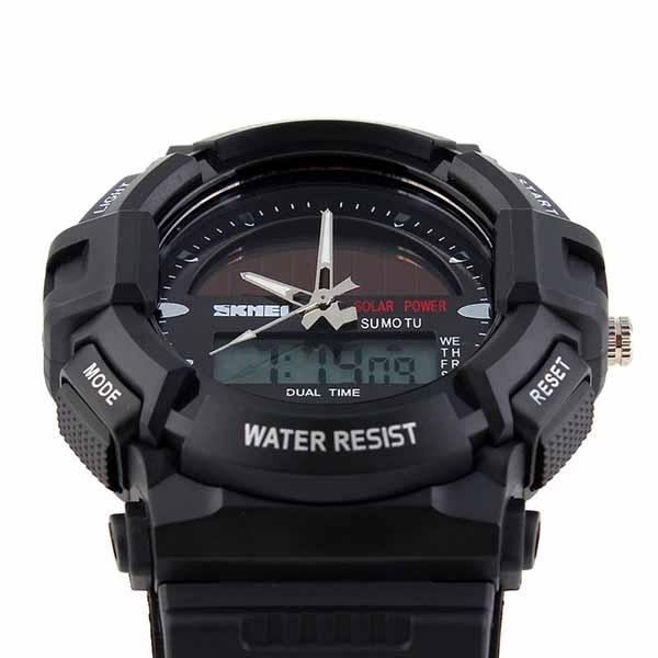 часы SKMEI solar 1050 чёрные - 9