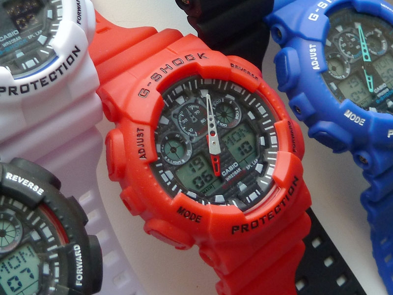 часы 100 красные - 1