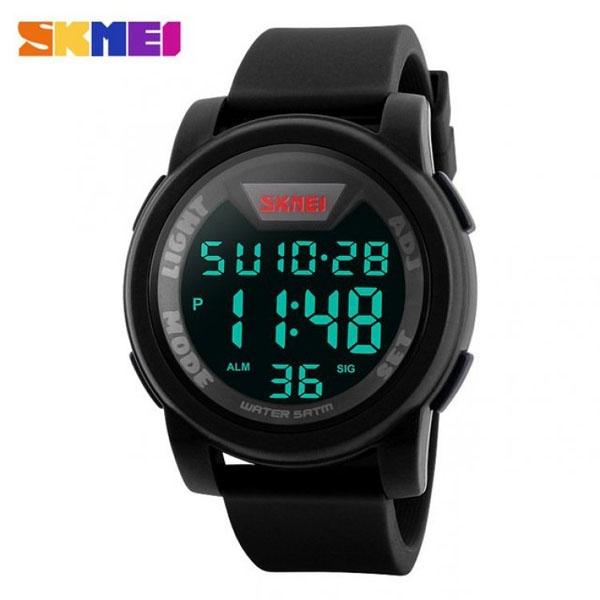 часы SKMEI 1218 Black (чёрные) - 1