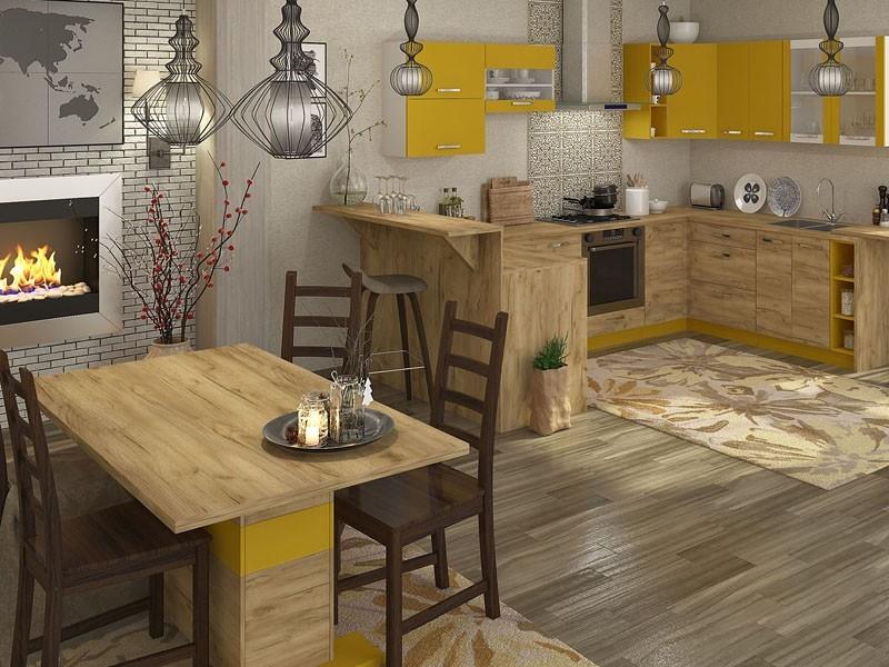 кухня ШАРЛОТТА крафт - 9