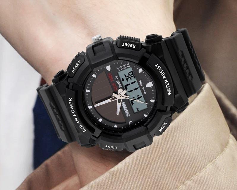 часы SKMEI solar 1050 чёрные - 7