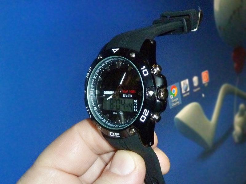 часы SKMEI solar 1064 чёрные - 1