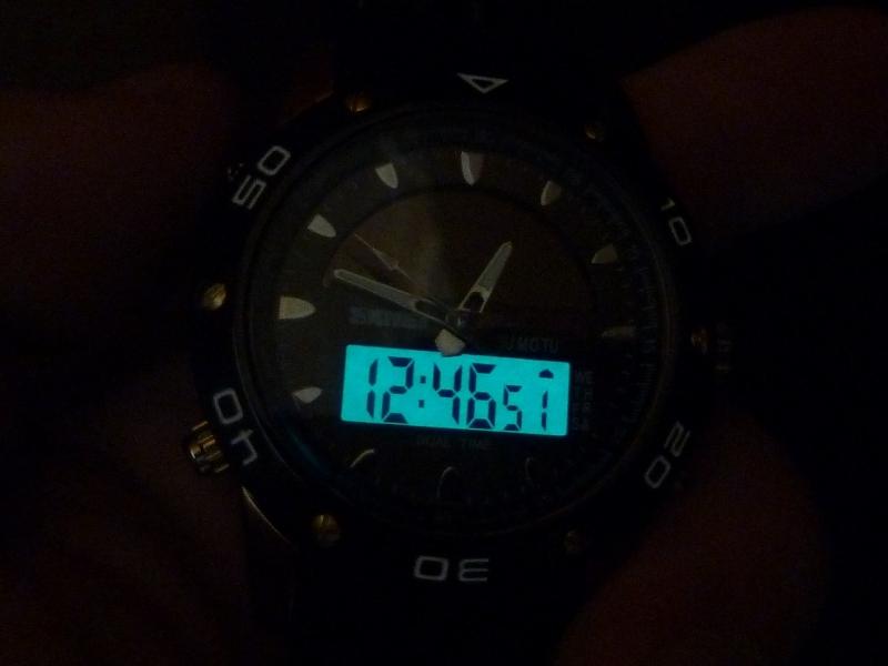 часы SKMEI solar 1064 чёрные/бронза - 4