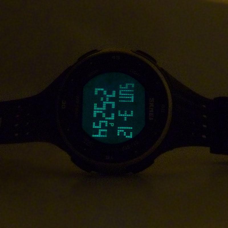 часы SKMEI 1219 GERRN чёрные с зелёным - 7