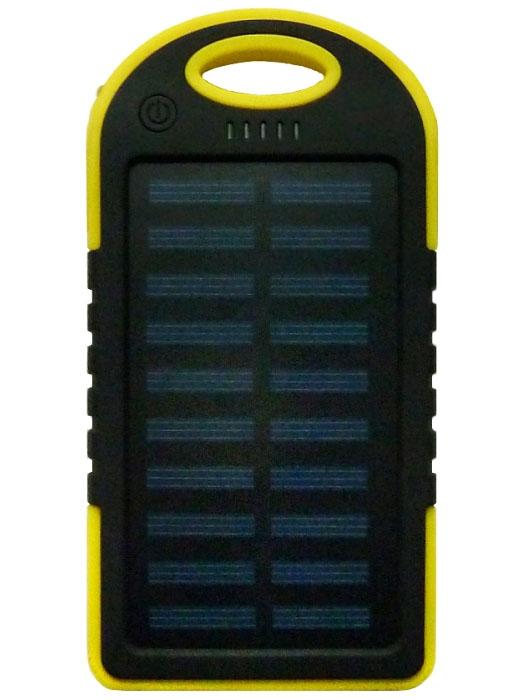 Power Bank Solar 5000 мАч желтый - 1