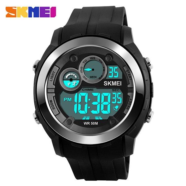 часы SKMEI 1234 Black (чёрные) - 1