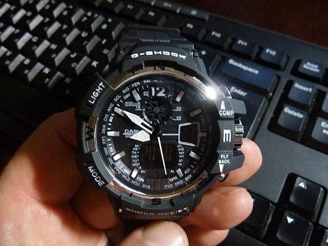 часы  1100 черные с металликом - 1