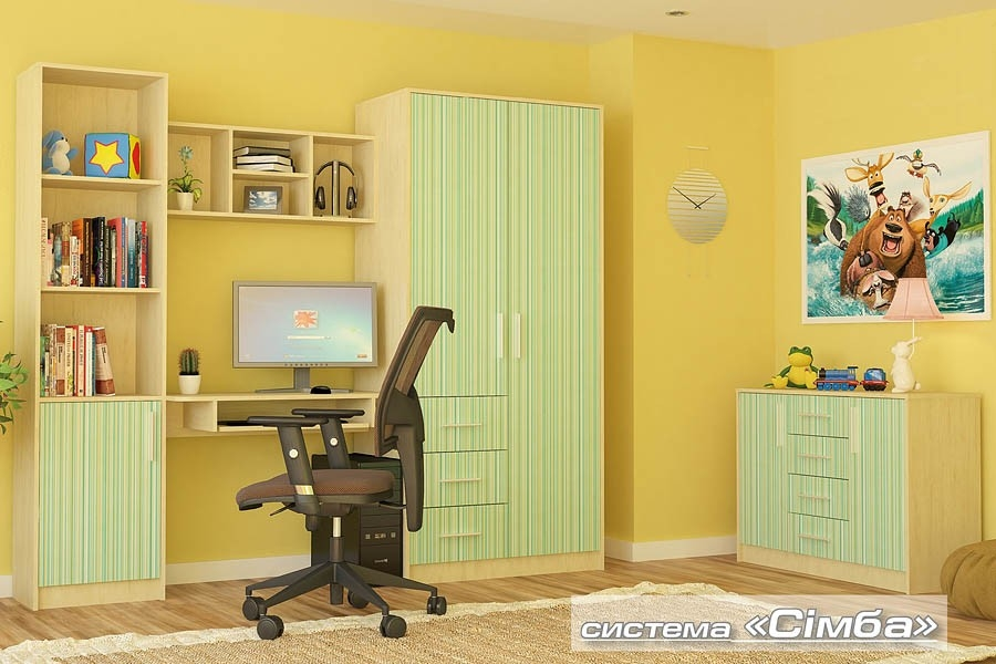 шкаф 1д СИМБА - 1