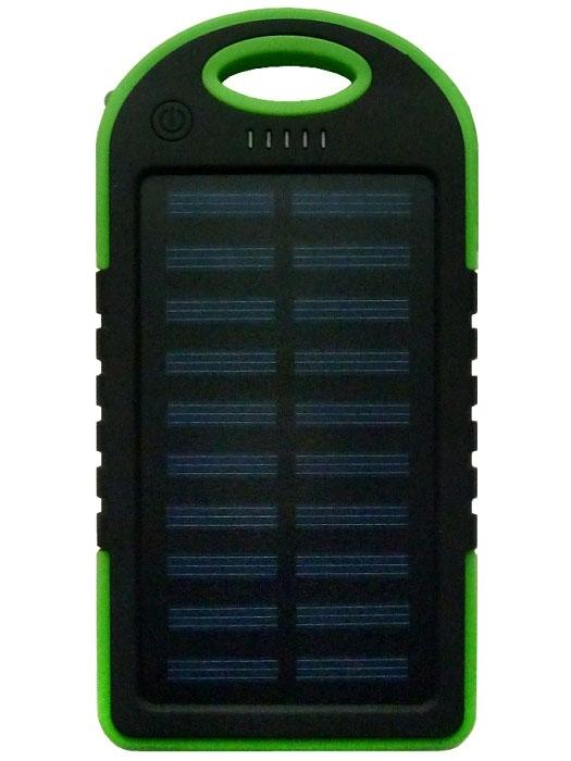 Power Bank Solar 5000 мАч зеленый - 1