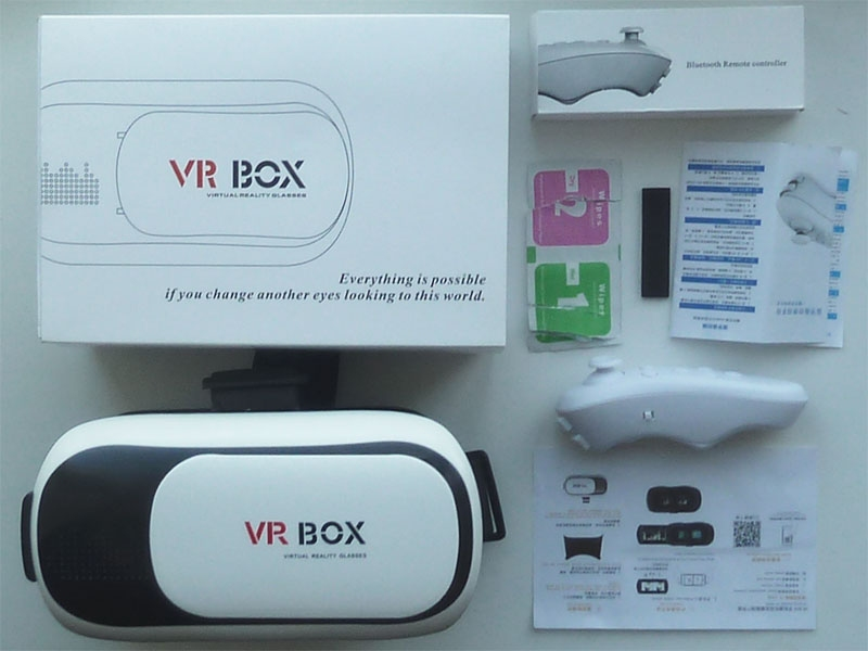 Очки - шлем VR Box 2.0 GLASSES + bluetooth-джойстик - 14