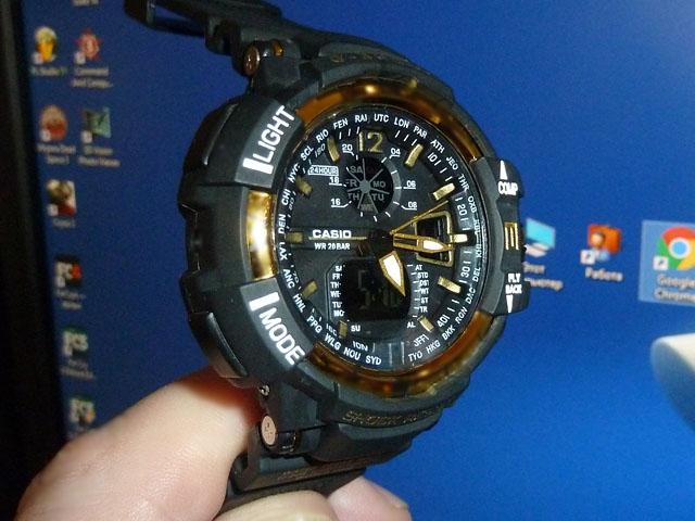 часы  1100 черные с золотистым металликом - 1