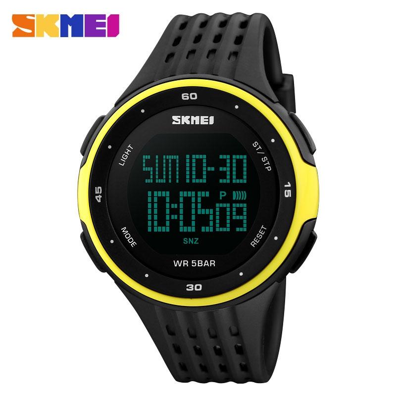 часы SKMEI 1219 YELLOW чёрные с жёлтым - 1