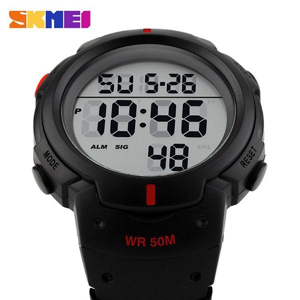 часы SKMEI 1068 чёрные с красным - 2