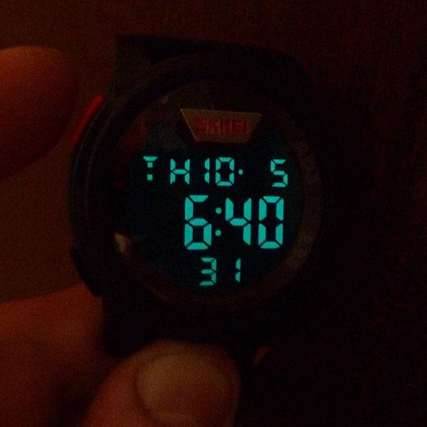 часы SKMEI 1218 Black Red (чёрные с красным) - 7