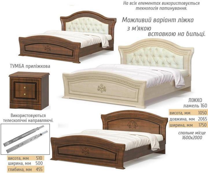 кровать МИЛАНО с мягким изголовьем - 1