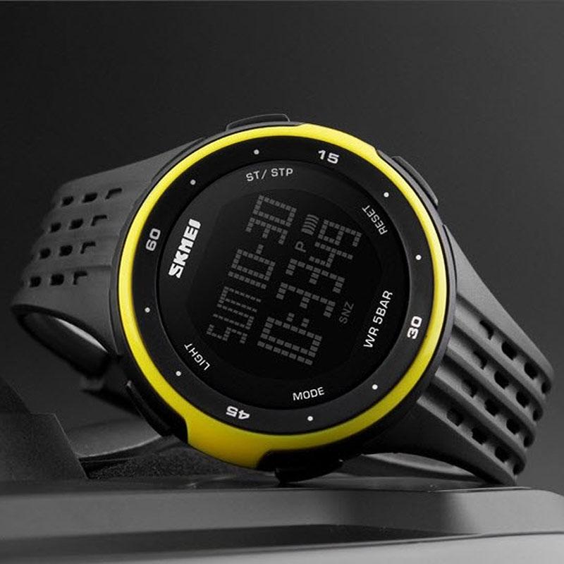 часы SKMEI 1219 YELLOW чёрные с жёлтым - 2