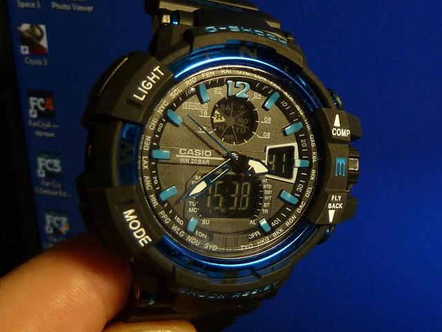 часы 1100 черные с синим металликом - 1