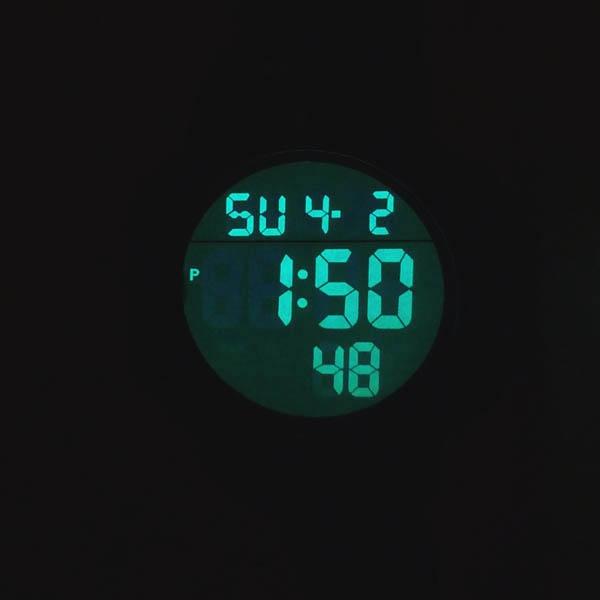 часы SKMEI 1068 чёрные с зелёным - 7