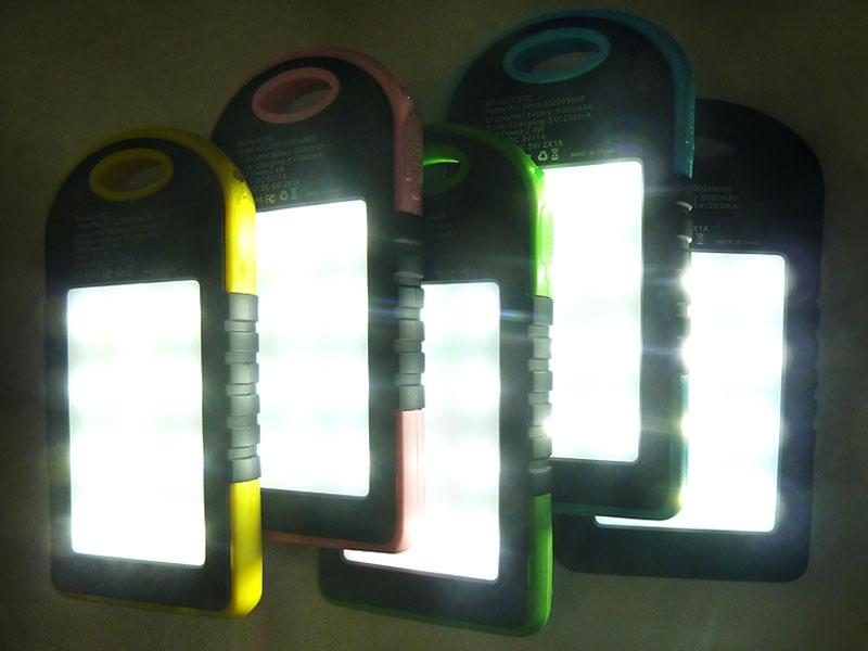 Power Bank Solar 5000 мАч зеленый - 4