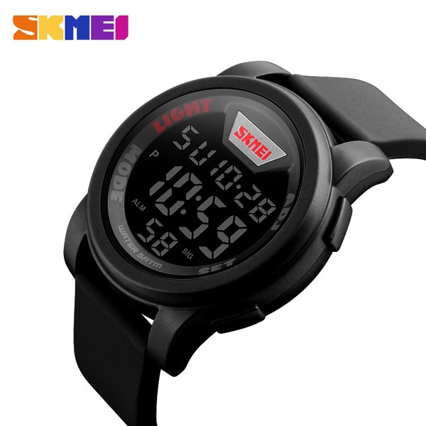 часы SKMEI 1218 Black Red (чёрные с красным) - 2