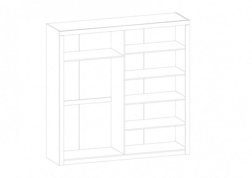 шкаф четырехдверный Квадро - 1