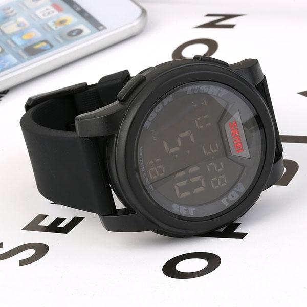 часы SKMEI 1218 Black (чёрные) - 4