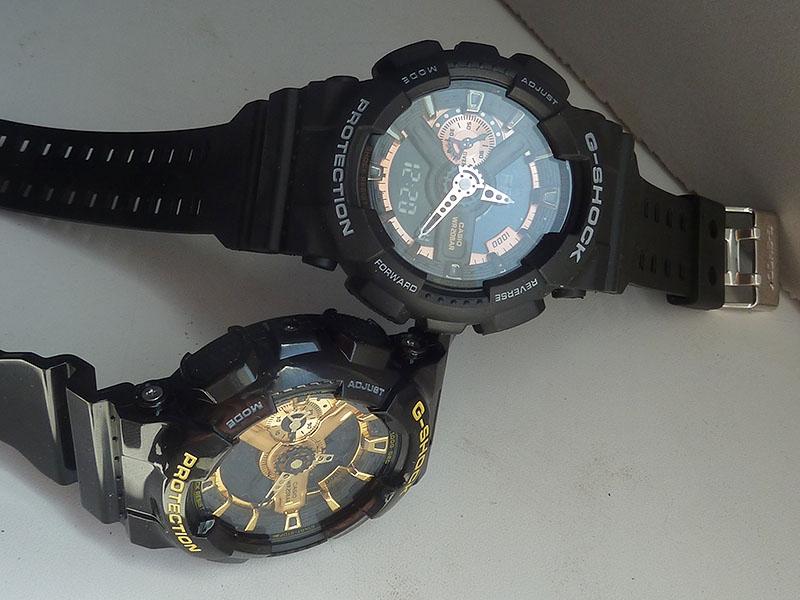 часы 110 ААА чёрные в меди - 4
