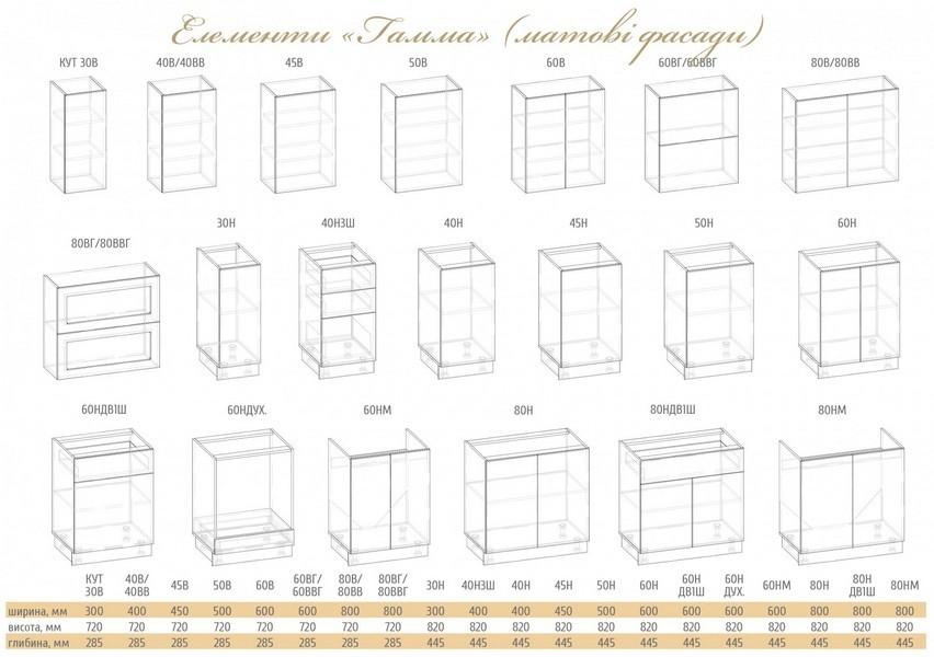 кухня ГАММА (матовые фасады) - 5