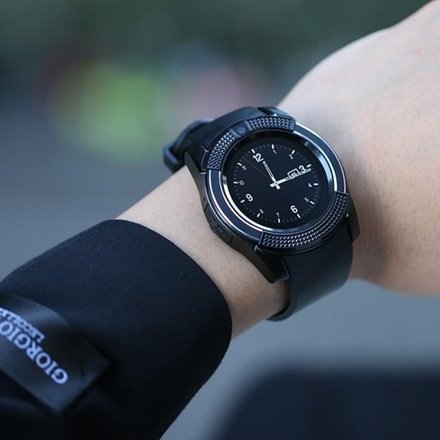 Смарт часы V8 черные - 2