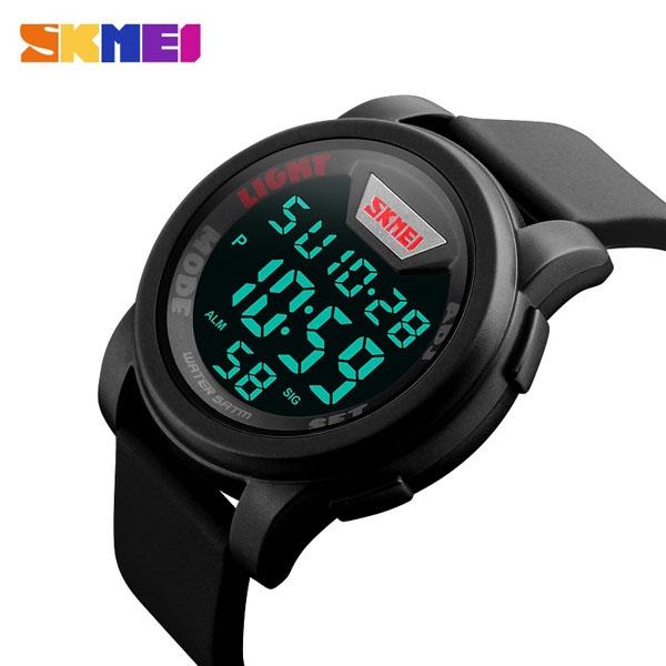 часы SKMEI 1218 Black Red (чёрные с красным) - 3