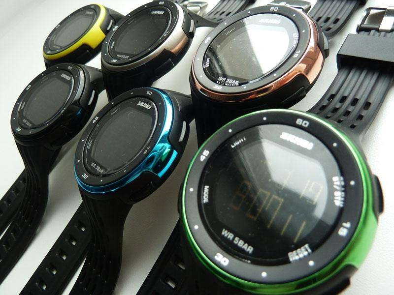 часы SKMEI 1219 GERRN чёрные с зелёным - 6