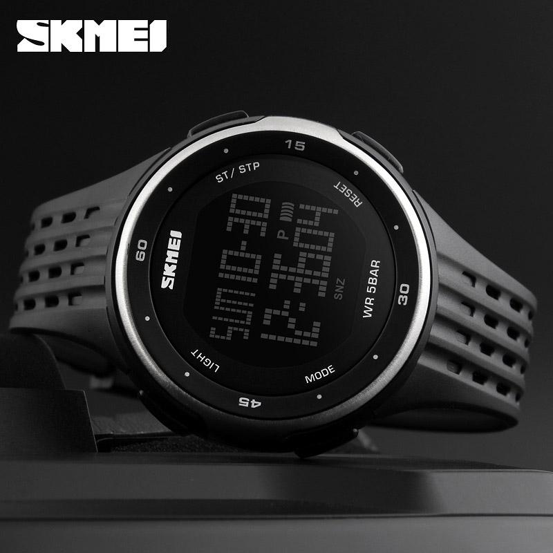 часы SKMEI 1219 SILVER чёрные с серебром - 3