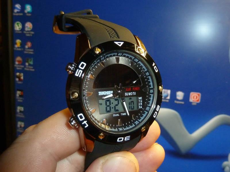 часы SKMEI solar 1064 медь/чёрные - 1