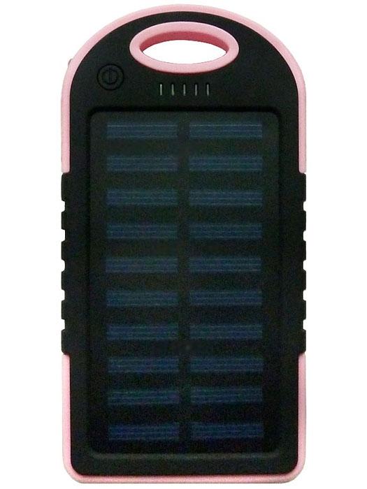 Power Bank Solar 5000 мАч розовый - 1