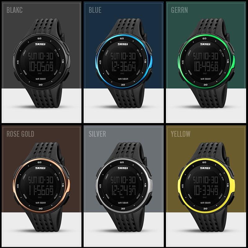 часы SKMEI 1219 BLACK чёрные - 6