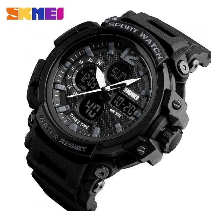 часы SKMEI 1343 чёрные - 2