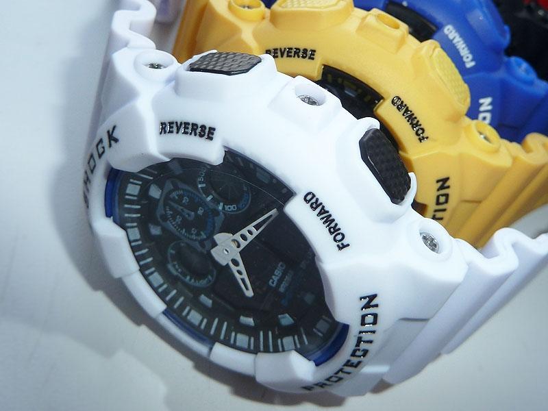часы 100 белые с черным циферблатом - 2