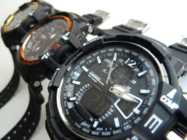часы  1100 черные с оранжевым металликом - 3