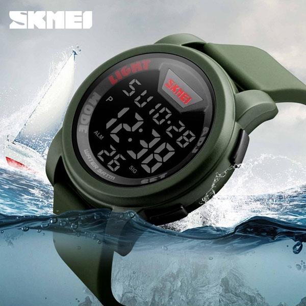 часы SKMEI 1218 Army Green (хаки) - 4