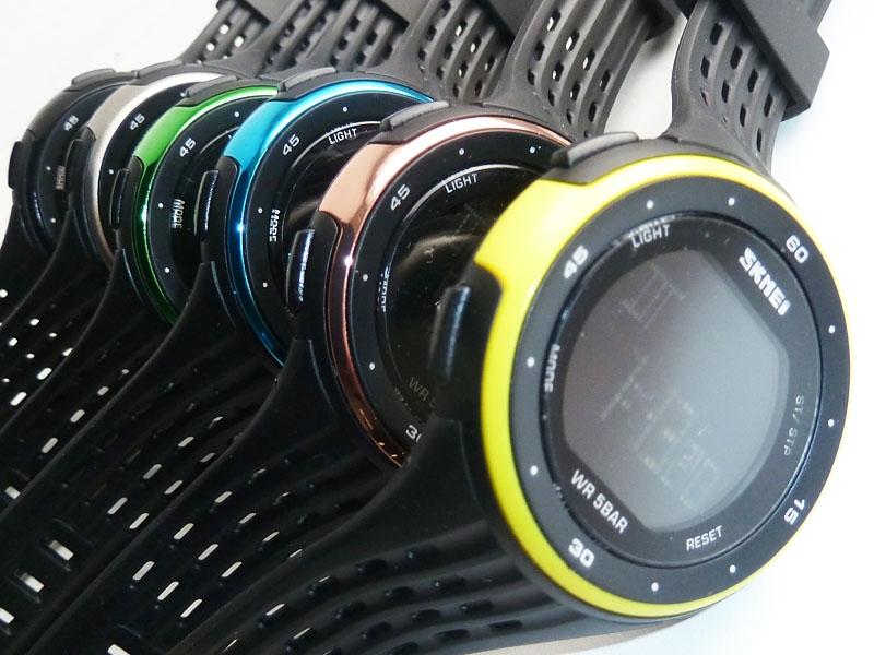 часы SKMEI 1219 YELLOW чёрные с жёлтым - 4