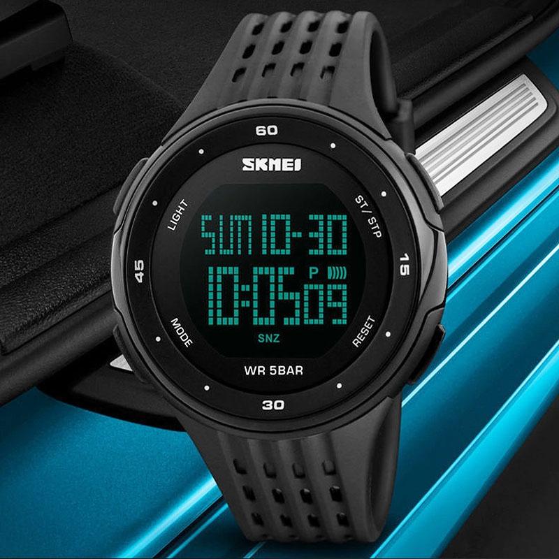 часы SKMEI 1219 BLACK чёрные - 5